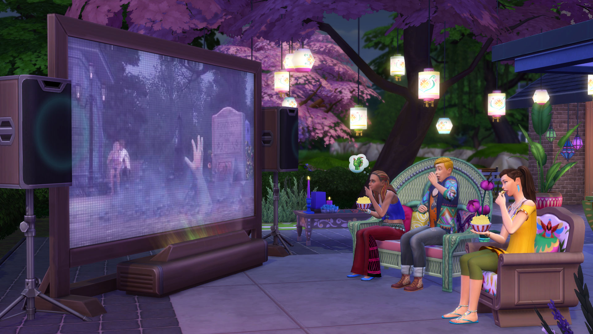the sims 4 movie hangout stuff pc mac punktid