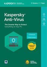 Kaspersky Anti-Virus 2018 (3 Users, 1 Year)