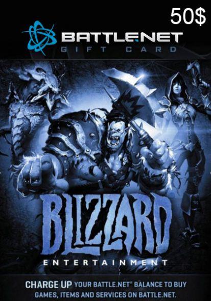 BattleNet 50 Dollar Gift Card