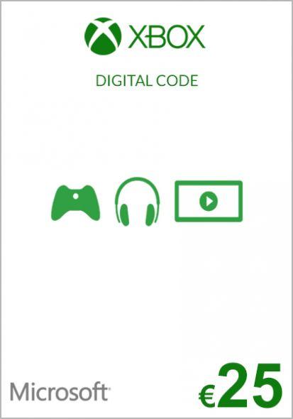 EU Xbox 25 Euro Gift Card (Xbox One & 360)