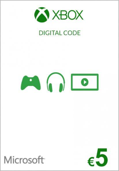 EU Xbox 5 Euro Gift Card (Xbox One & 360)