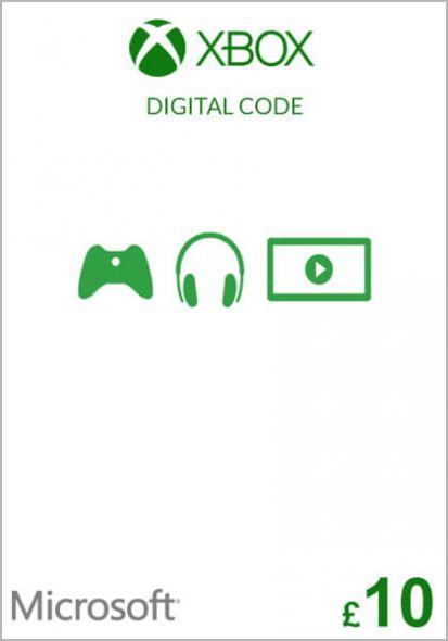 UK Xbox 10 Pound Gift Card (Xbox One & 360)