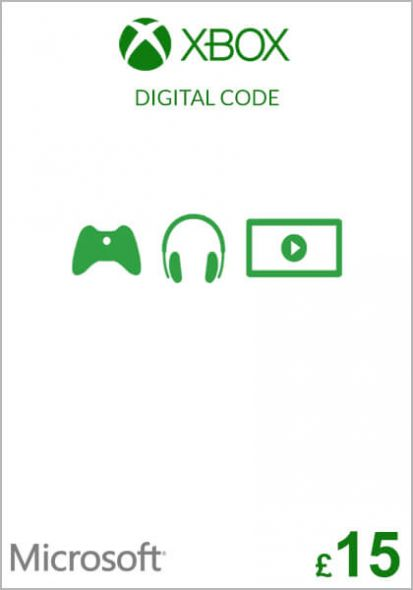 UK Xbox 15 Pound Gift Card (Xbox One & 360)