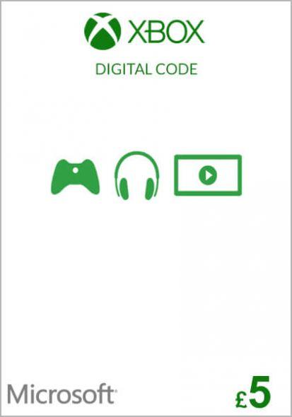 UK Xbox 5 Pound Gift Card (Xbox One & 360)