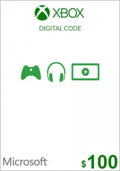 USA Xbox 100 Dollar Gift Card (Xbox One & 360)