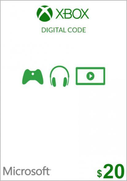 USA Xbox 20 Dollar Gift Card (Xbox One & 360)