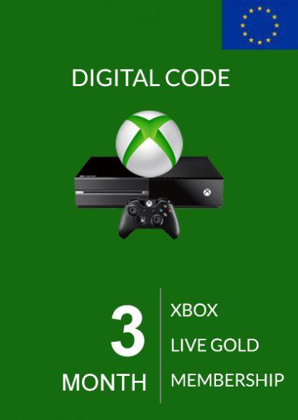 EU Xbox Live 3 Month Gold Membership (Xbox One & 360)