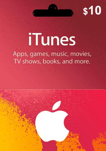iTunes USA $10 Gift Card