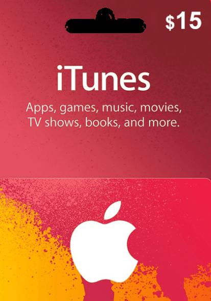 iTunes USA $15 Gift Card