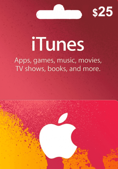 iTunes USA $25 Gift Card