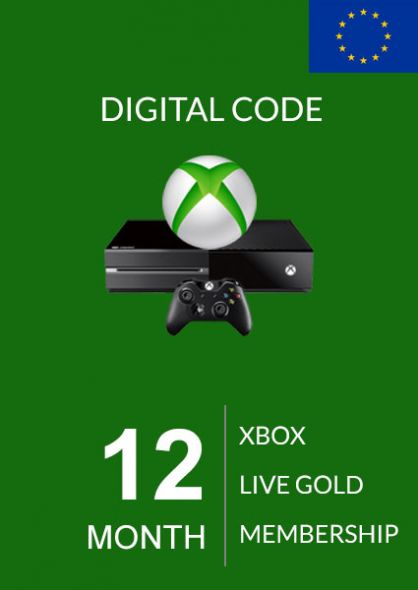 EU Xbox Live 12 Month Gold Membership (Xbox One & 360)