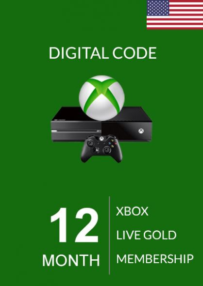 USA Xbox Live 12 Month Gold Membership (Xbox One & 360)