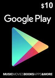 USA Google Play 10 Dollar Gift Card