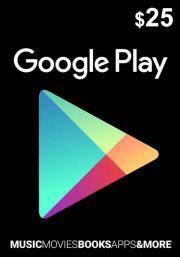 USA Google Play 25 Dollar Gift Card