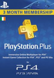 Ireland PSN Plus 3-Month Subscription Code