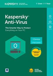 Kaspersky Anti-Virus 2018 (1 User / 1 Year)