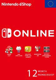 EU Nintendo 12 Month Membership