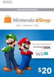 USA Nintendo 20 Dollar eShop Gift Card