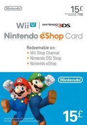 UK Nintendo 15 Pound eShop Gift Card