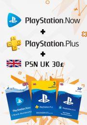 UK PSN 3 Month Combo