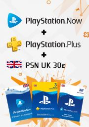 UK PSN 3 Month Combo