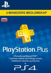 Norway PSN Plus 3-Month Subscription Code