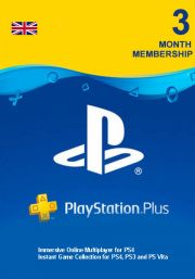 UK PSN Plus 3-Month Subscription Code