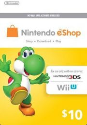 USA Nintendo 10 Dollar eShop Gift Card