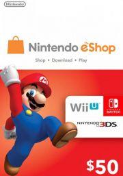 USA Nintendo 50 Dollar eShop Gift Card