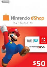 USA Nintendo 50 Dollar eShop Gift Card