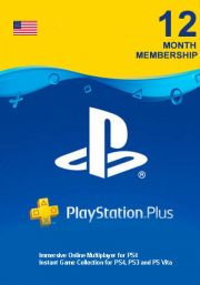 USA PSN Plus 12-Month Subscription Code