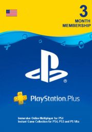 USA PSN Plus 3-Month Subscription Code