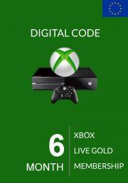 EU Xbox Live Gold 6 Month Membership
