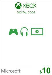 USA Xbox 10 Dollar Gift Card