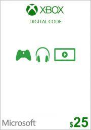 USA Xbox 25 Dollar Gift Card