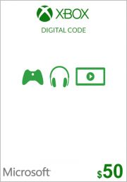 USA Xbox 50 Dollar Gift Card (Xbox One & 360)