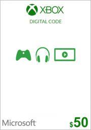 USA Xbox 50 Dollar Gift Card
