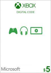 USA Xbox 5 Dollar Gift Card