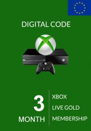 EU Xbox Live 3 Month Gold Membership (Xbox One & 360)