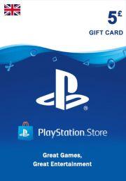 UK PSN 5 GBP Gift Card