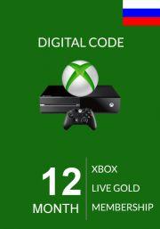 RUS Xbox Live Gold 12 Month Membership