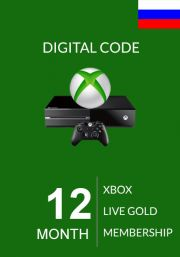 RUS Xbox Live 12 Month Gold Membership (Xbox One & 360)