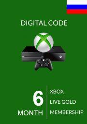 RUS Xbox Live Gold 6 Month Membership