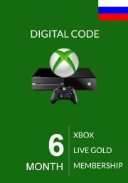 RUS Xbox Live 6 Month Gold Membership (Xbox One & 360)