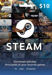 USA Steam 10 Dollar Gift Card