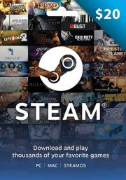 USA Steam 20 Dollar Gift Card
