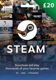 UK Steam 20 Pound Gift Card