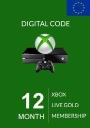 EU Xbox Live 12 Month Gold Membership
