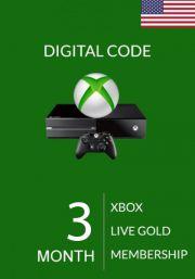 USA Xbox Live Gold 3 Month Membership